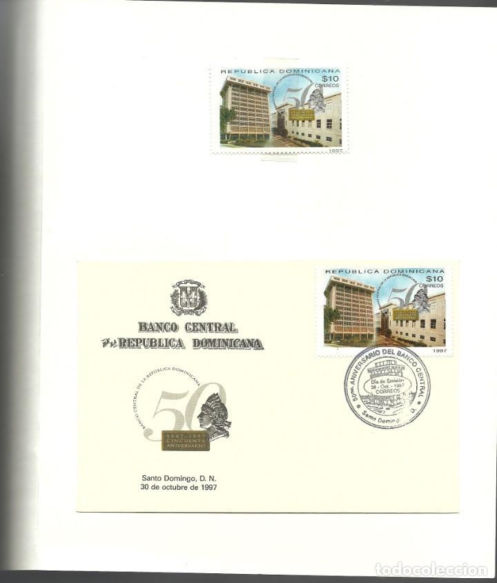 Sellos: Documento para conmemorar el 50 aniversario del Banco Central, Rep.Dominicana - Foto 4 - 226684480