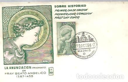 FDC 1956 (Sellos - Historia Postal - Sello Español - Sobres Primer Día y Matasellos Especiales)