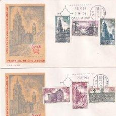 Sellos: RELIGION AÑO SANTO COMPOSTELANO 1971 III GRUPO (EDIFIL 2063/70) EN TRES SPD DEL SERVICIO FILATELICO.. Lote 227925300