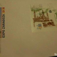 Sellos: SOBRE DE PRIMER DIA, EXPO DE ZARAGOZA 2008. Lote 228799410