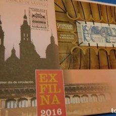 Sellos: SOBRE DE PRIMER DIA, EXFILNA 2016. ZARAGOZA. PALACIO DE SÁSTAGO. Lote 228827545