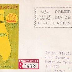 Sellos: SAN AGUSTIN FLORIDA IV CENTENARIO FUNDACION 1965 (EDIFIL 1674) SPD CIRCULADO SERVICIO FILATELICO MPM. Lote 228953990