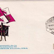 Sellos: SAN AGUSTIN FLORIDA IV CENTENARIO FUNDACION 1965 (EDIFIL 1674) SPD ARRONIZ CORREO AEREO AVILES. RARO. Lote 228954840