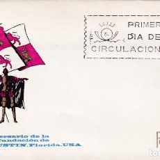 Sellos: SAN AGUSTIN FLORIDA IV CENTENARIO FUNDACION 1965 (EDIFIL 1674) EN SOBRE PRIMER DIA DE ARRONIZ. MPM.. Lote 228954940