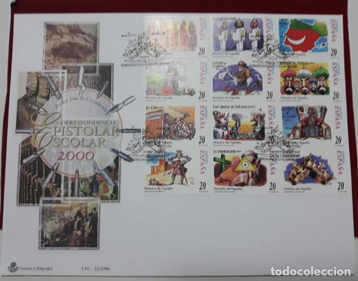 SPD SOBRE PRIMER DIA GRAN FORMATO EDIFIL 3744 A 3755 ESPAÑA 22/ 2000 (Sellos - Historia Postal - Sello Español - Sobres Primer Día y Matasellos Especiales)