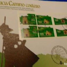 Sellos: SOBRE DE PRIMER DIA, ESPAÑA 2018 LOS CAMINOS DE SANTIAGO DEL NORTE PENINSULAR. Lote 229924810