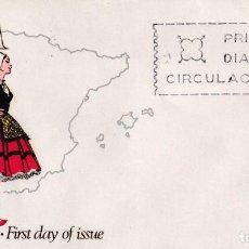 Selos: TRAJES TIPICOS ESPAÑOLES 1967 TRAJE DE ALAVA (EDIFIL 1767) EN RARO SOBRE PRIMER DIA DE ALFIL. MPM.. Lote 231043660