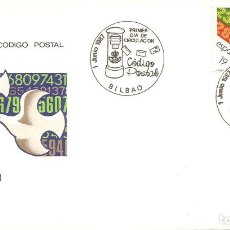 Sellos: SPD -FDC, CÓDIGO POSTAL, 1987, MATASELLOS BILBAO. Lote 232635935