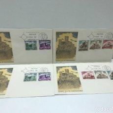 Francobolli: LOTE DE SOBRES DE PRIMER DIA DE CIRCULACION - 1972 - CASTILLO DE SANTA CATALINA ( 2 SERIES ). Lote 235188895
