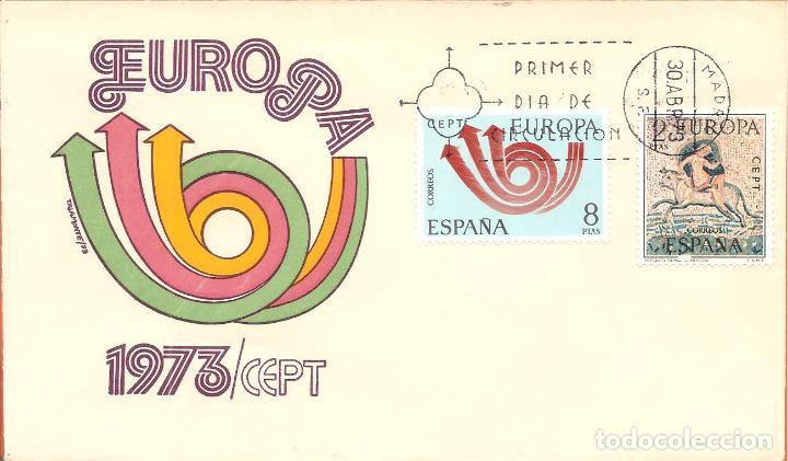 SPD -FDC, ESPAÑA, 1973, TEMA EUROPA (Sellos - Historia Postal - Sello Español - Sobres Primer Día y Matasellos Especiales)