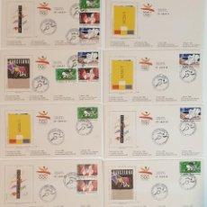 Sellos: 8 SOBRES BARCELONA 92 , IV SERIE PRE-OLIMPICA - AÑO 1990 - PRIMER DÍA. Lote 235489860