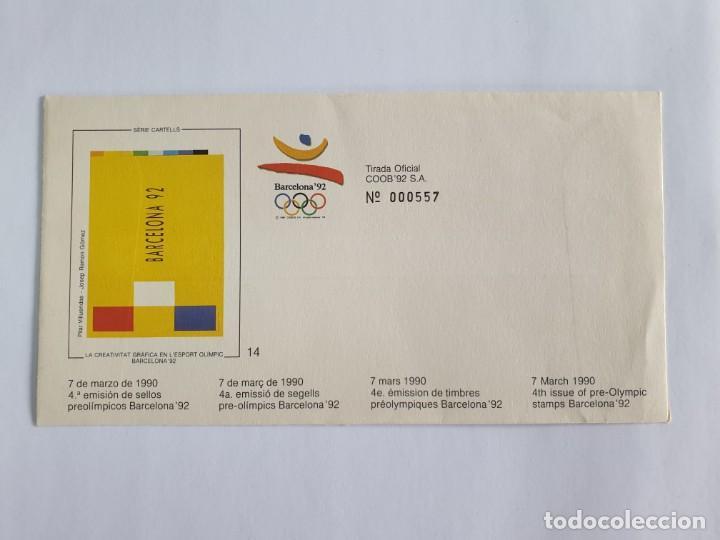 Sellos: 8 SOBRES BARCELONA 92 , IV SERIE PRE-OLIMPICA - AÑO 1990 - primer dÍa - Foto 2 - 235489860