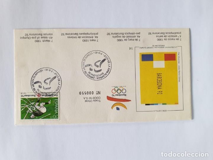Sellos: 8 SOBRES BARCELONA 92 , IV SERIE PRE-OLIMPICA - AÑO 1990 - primer dÍa - Foto 5 - 235489860
