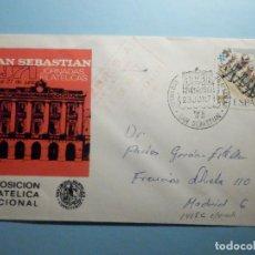 Sellos: SOBRE CONMEMORATIVO - JORNADAS FILATÉLICAS - SAN SEBASTIAN 1971 - ASOCIACIÓN GUIPUZCOANA - VIÑETA. Lote 235496465