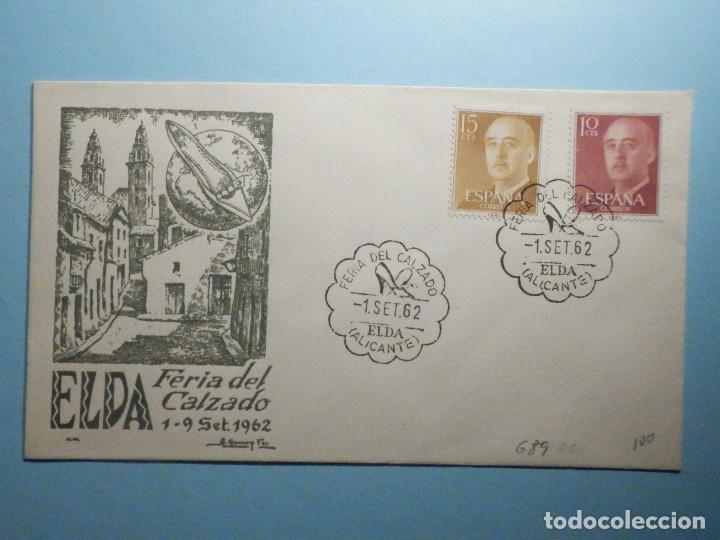 SOBRE CONMEMORATIVO ALFIL - FERIA DEL CALZADO 1962 - ELDA - ALICANTE - (Sellos - Historia Postal - Sello Español - Sobres Primer Día y Matasellos Especiales)