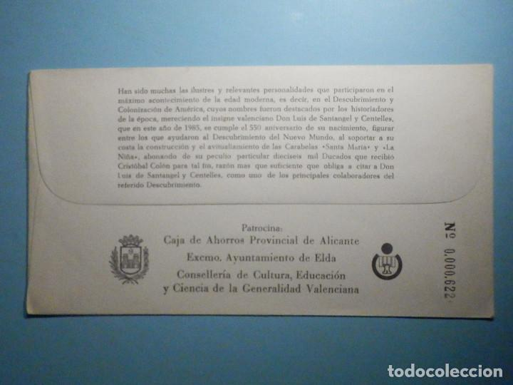 Sellos: Sobre Conmemorativo - XVIII Exposición filatélica Exfielda ´85 - Elda - Alicante 1985 - Foto 2 - 235499040