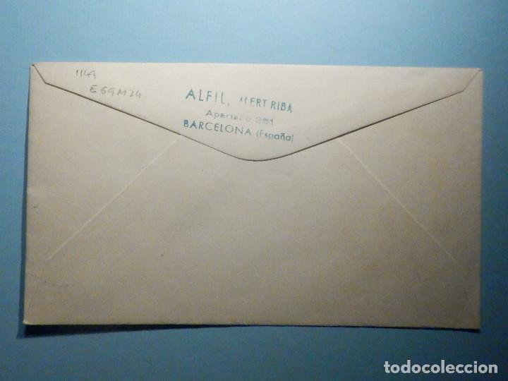 Sellos: Sobre Conmemorativo Alfil IX Exposición Filatélica Federación Mutualidades Cataluña y Baleares 1969 - Foto 2 - 235510540