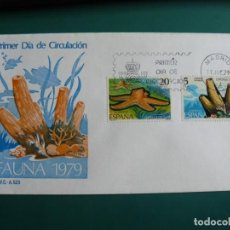 Francobolli: SOBRE PRIMER DIA 1979 ESPAÑA FAUNA 5. Lote 235836750