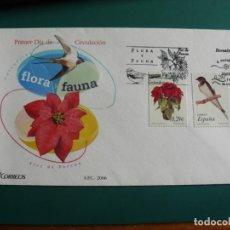 Francobolli: SOBRE PRIMER DIA 2006 ESPAÑA FLORA Y FAUNA. Lote 235838160