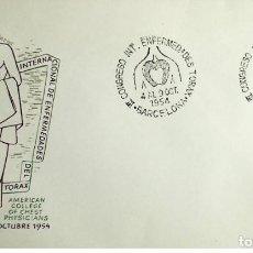 Sellos: 1954 ESPAÑA MATASELLO III CONGRESO INTERNACIONAL DE ENFERMEDADES DEL TORAX. Lote 236841520