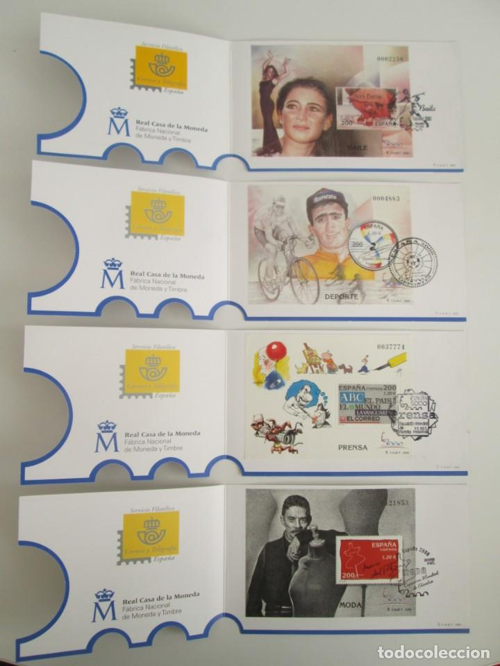 Sellos: ER * EXPOSICION MUNDIAL DE FILATELIA MADRID 2000 * COLECCION DE HOJITAS CON FRANQUEO EXPO. - Foto 6 - 236916145