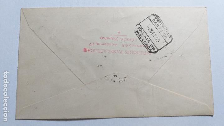 Sellos: SOBRE PRIMER DIA. XII REUNION ANUAL DE LA FEDERACION INTERNACIONAL DE LA SALUD MENTAL. 1959 - Foto 2 - 239648355