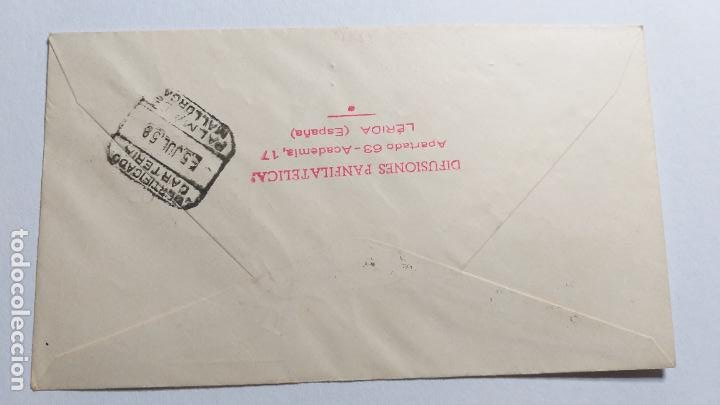 Sellos: SOBRE PRIMER DIA. VI CONGRESO EUROPEO de EX-LIBRIS, BARCELONA 1958. - Foto 2 - 266649943