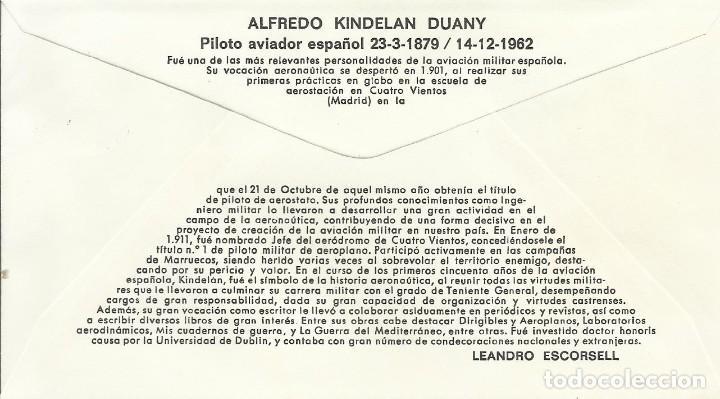 Sellos: Pioneros de la Aviación. Aldredo Kindelan Duany. 1980. Alfil. 9x16,5 cm. Buen estado. Sobre. - Foto 2 - 239797745