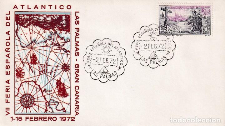BARCOS FERIA ESPAÑOLA DEL ATLANTICO, LAS PALMAS (CANARIAS) 1972. MATASELLOS SOBRE SIN CIRCULAR ALFIL (Sellos - Historia Postal - Sello Español - Sobres Primer Día y Matasellos Especiales)