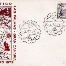 Sellos: BARCOS FERIA ESPAÑOLA DEL ATLANTICO, LAS PALMAS (CANARIAS) 1972. MATASELLOS SOBRE SIN CIRCULAR ALFIL. Lote 243909570