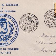 Sellos: DEPORTES DIVULGACION DEPORTIVA IV SEMANA, SANTA CRUZ DE TENERIFE (CANARIAS) 1972. MATASELLOS EN RARO. Lote 243910505