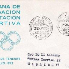 Sellos: DEPORTES DIVULGACION DEPORTIVA IV SEMANA, SANTA CRUZ DE TENERIFE (CANARIAS) 1972. RARO MATASELLOS EN. Lote 243910645