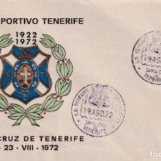 Sellos: FUTBOL BODAS ORO CLUB DEPORTIVO TENERIFE, SANTA CRUZ TENERIFE (CANARIAS) 1972 MATASELLOS RARO SOBRE. Lote 243915155