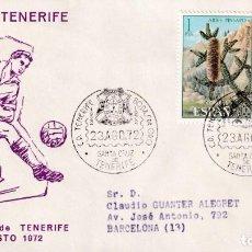 Sellos: FUTBOL BODAS ORO CLUB DEPORTIVO TENERIFE, SANTA CRUZ TENERIFE (CANARIAS) 1972 RARO MATASELLOS SOBRE. Lote 243915235