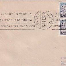 Sellos: MEDICINA TRAUMATOLOGIA CIRUGIA ORTOPEDICA XIII CONGRESO, LAS PALMAS CANARIAS 1972 MATASELLOS RODILLO. Lote 243916050