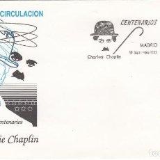 Sellos: SOBRE PRIMER DIA, EDIFIL 3014 - CENTENARIO CHARLES CHAPLIN 1989 - S.F.C.. Lote 244486750