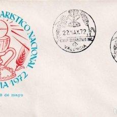 Sellos: RELIGION VIII CONGRESO EUCARISTICO NACIONAL VALENCIA 1972 MATASELLO SANTO GRIAL RARO SOBRE ILUSTRADO. Lote 244602685