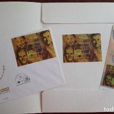 Sellos: MATASELLOS EXPO MUNDIAL FILATELIA JUVENIL SALAMANCA 2002. CARPETA PRESENTACIÓN DE CORREOS. Lote 246073800