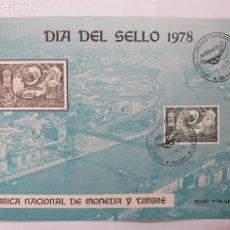 Sellos: HOJA RECUERDO EXFILNA 78. BILBAO. DIA DEL SELLO 1978. EDIFIL 2480. MATASELLOS BILBAO (VIZCAYA).. Lote 246142245