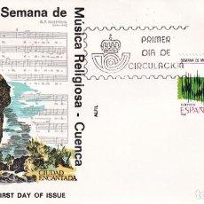 Sellos: CUENCA SEMANA MUSICA RELIGIOSA GRANDES FIESTAS POPULARES 1986 (EDIFIL 2841) EN SPD DE ALFIL MADRID. Lote 246311945