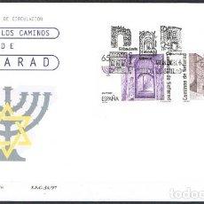 Sellos: [CF7740] ESPAÑA 1997; FDC RUTA DE LOS CAMINOS DE SEFARD II. Lote 246321675