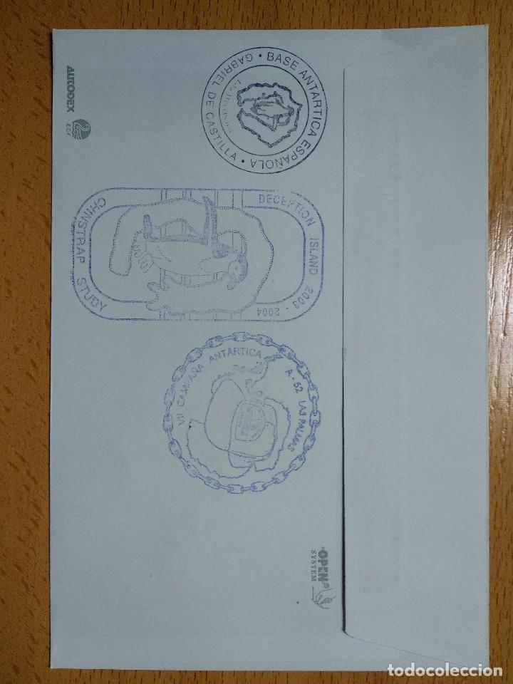 Sellos: BASE ANTARTICA ESPAÑOLA JUAN CARLOS I, 2003-2004 ISLA DECEPCION 8 SELLOS. VER REVERSO.. - Foto 2 - 252145840