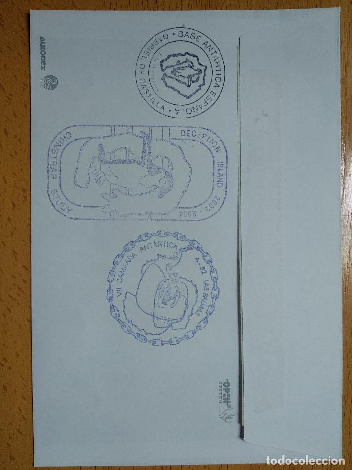 Sellos: BASE ANTARTICA ESPAÑOLA JUAN CARLOS I, 2003-2004 ISLA DECEPCION 8 SELLOS. VER REVERSO.. - Foto 2 - 252146305