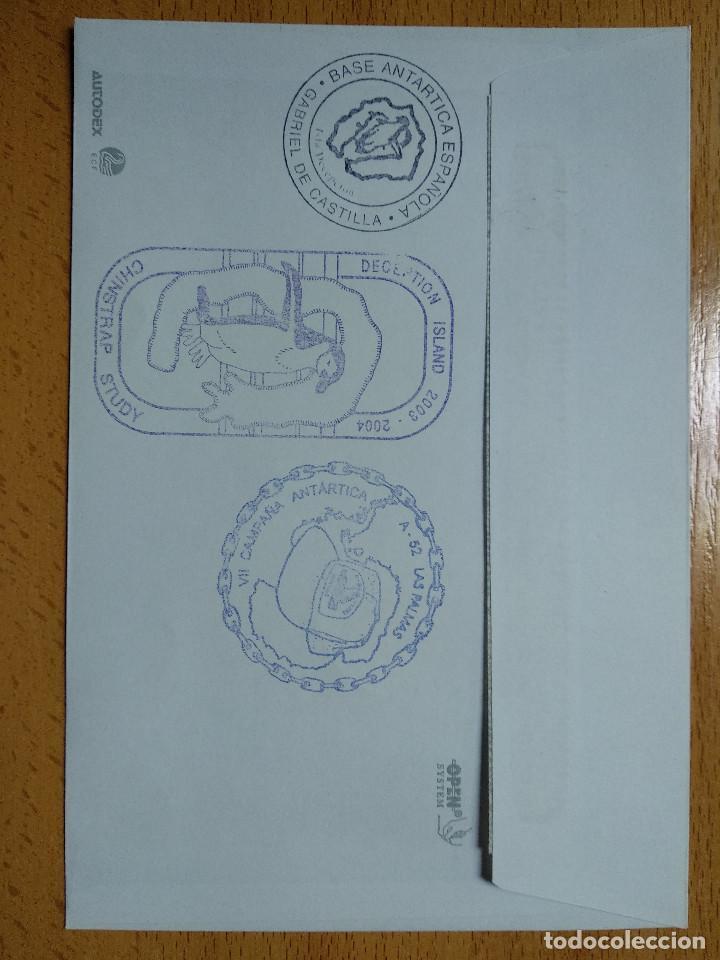 Sellos: BASE ANTARTICA ESPAÑOLA JUAN CARLOS I, 2003-2004 ISLA DECEPCION 8 SELLOS. VER REVERSO.. - Foto 3 - 252146305