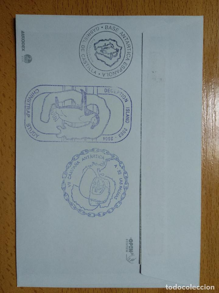 Sellos: BASE ANTARTICA ESPAÑOLA JUAN CARLOS I, 2003-2004 ISLA DECEPCION 8 SELLOS. VER REVERSO.. - Foto 2 - 252147615