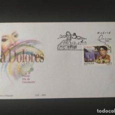 Sellos: ## SELLO NUEVO - LA DOLORES 2002 SOBRE PRIMER DIA + FOLLETO PUBLICITARIO##. Lote 252619005
