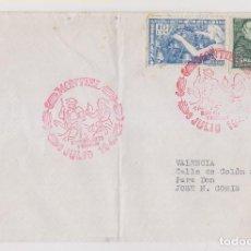 Sellos: SOBRE. MONTIEL, CIUDAD REAL. 1947. MATASELLOS ESPECIAL QUIJOTE. Lote 253847835