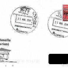 Francobolli: ESPAÑA. MATASELLOS ESPECIAL. RIBADESELLA. 2019. Lote 253889090