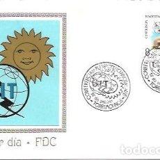 Sellos: FDC SOBRE PRIMER DIA MUNDO FILATELICO EDIFIL 2145 CONFERENCIA DE PLENIPOTENCIARIOS DE LA U.I.T. 14 S. Lote 254080365