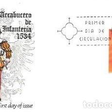 Sellos: SOBRE PRIMER DIA EDIFIL 2140 UNIFORMES MILITARES 17 JUL 1973 ARCABUCERO DE INFANTERIA 1534. Lote 254114990